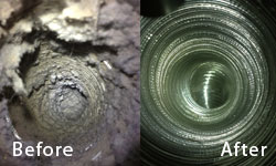 Air Duct clenaing process: Before and after